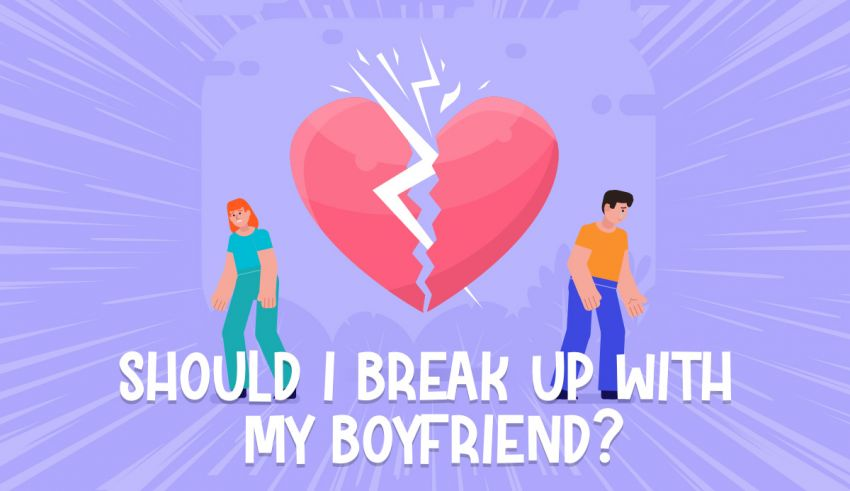After breaking up with boyfriend